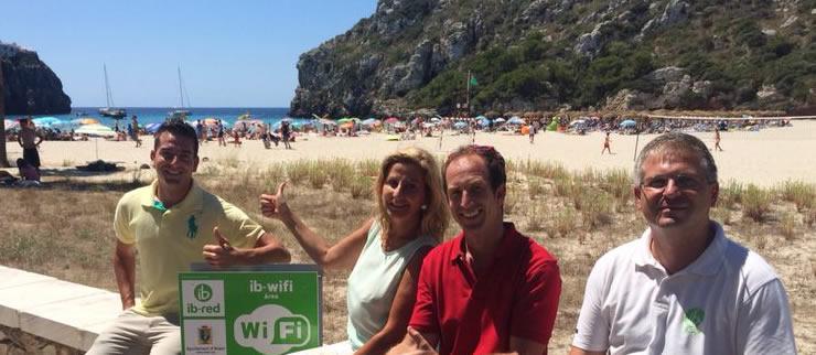 Cala en Porter y Son Bou, primeras playas de Alaior con Wi-Fi gratis