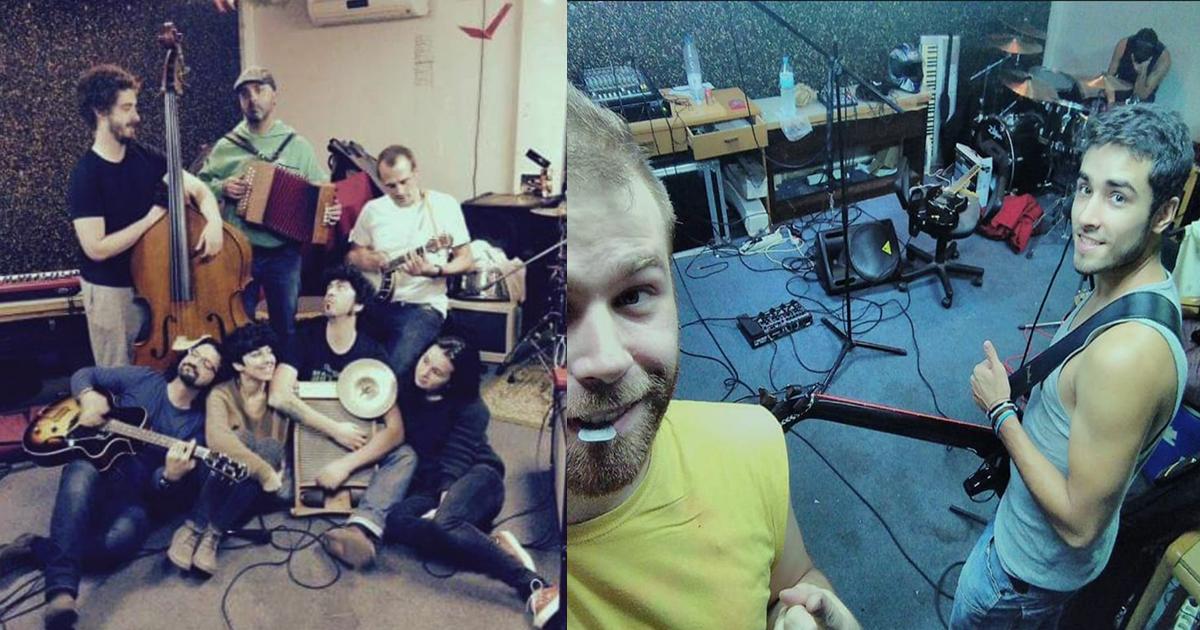 Músicos de la asociación de música de pollensa que disfrutan del internet mallorca de ib-red