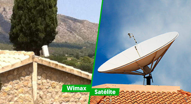 Antenas de internet wimax y de internet satelite de las baleares